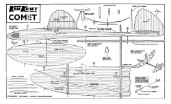 Comet kk 24in model airplane plan