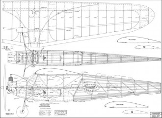 Commodore 1938 72in model airplane plan