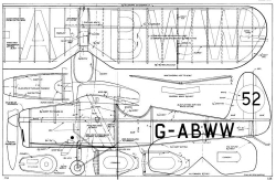 Comper Swift 3 model airplane plan