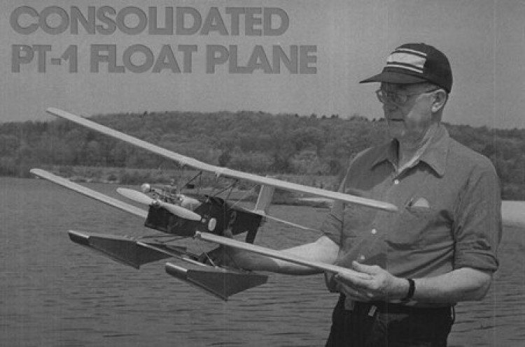 Consolidated PT-1 model airplane plan