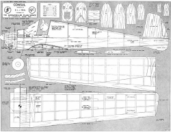 Consul model airplane plan