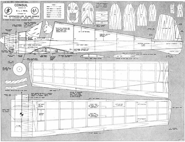 Consul model airplane plan