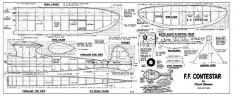 Contestar model airplane plan