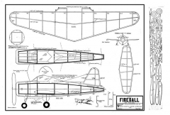Continental Ryan Fireball model airplane plan