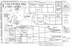 Convertible Cabin model airplane plan