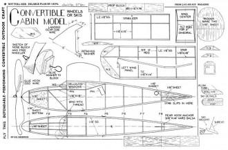 Convertible Cabin model airplane plan
