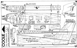 Coolie CO2 model airplane plan