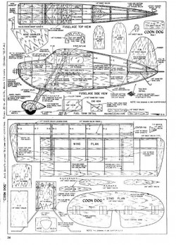 Coon Dog model airplane plan