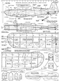 Coquette model airplane plan