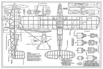 Corben Super Ace 13in model airplane plan