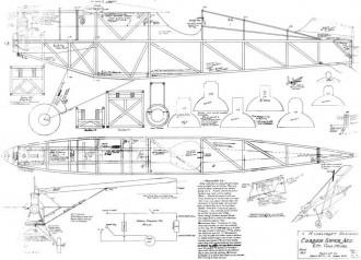 Corben Super Ace 72in model airplane plan