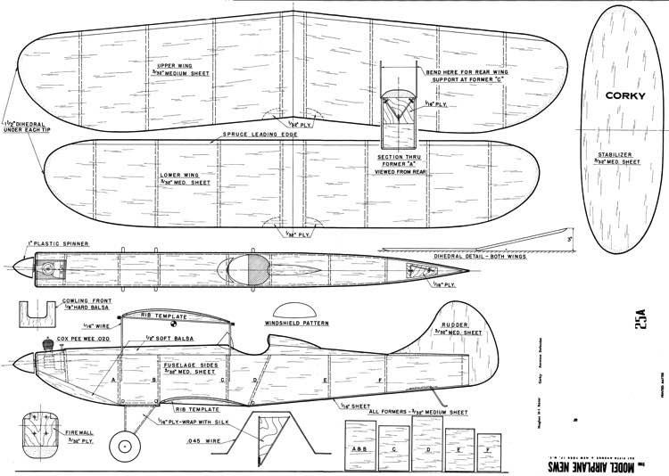 Corkey model airplane plan