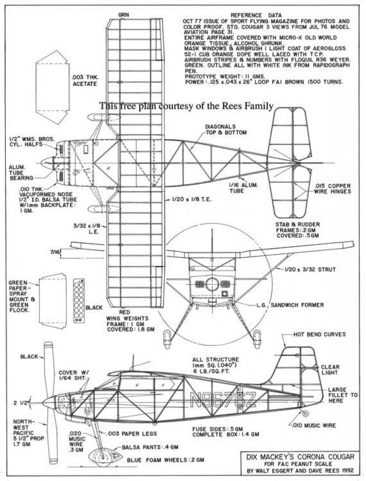 Corona Cougar model airplane plan
