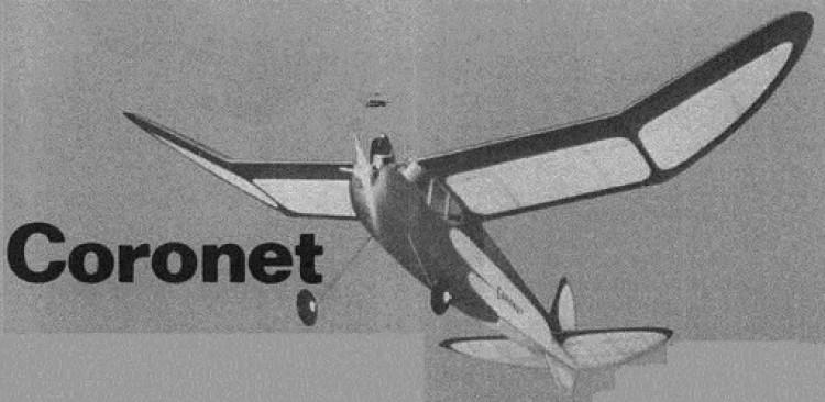 Coronet model airplane plan