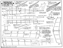Coronette model airplane plan