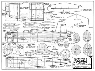 Corsair 2 model airplane plan