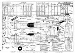 XF4U-7 Corsair model airplane plan
