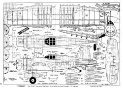 XF4U-7 Corsair model airplane plan