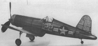 Corsair F4U-1 model airplane plan