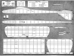 Corsair glider 48in model airplane plan