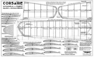 Corsaire model airplane plan