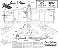 Count Clipper UC model airplane plan