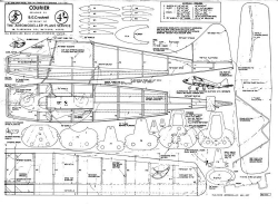 Courier model airplane plan