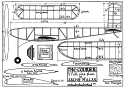 Courier 32in model airplane plan