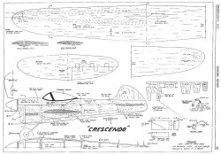 Crescendo model airplane plan