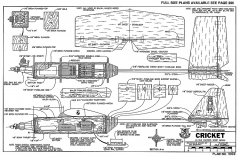 Cricket-RCM-06-90 1069 model airplane plan