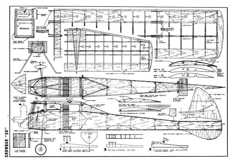 Crowbar56 model airplane plan