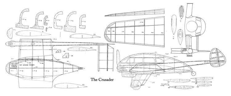 Crusader-1 model airplane plan