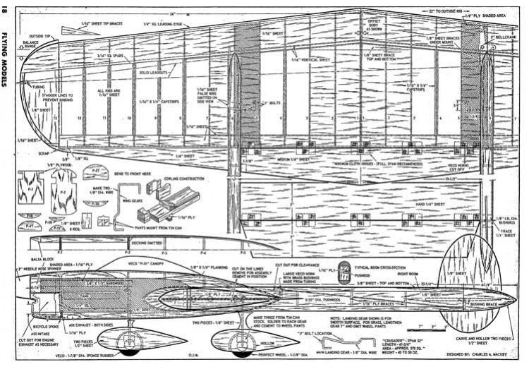 Crusader CL model airplane plan