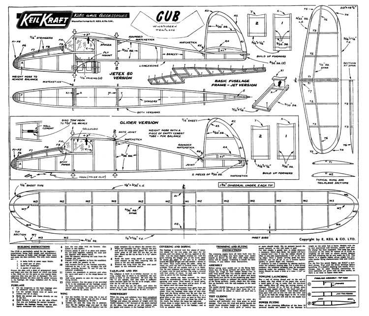 Cub model airplane plan