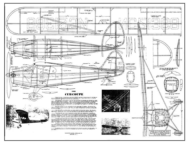 Cub Coupe model airplane plan