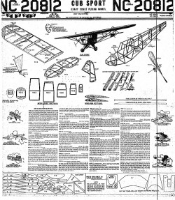 Cub Sport 16in model airplane plan