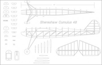 Cumulus 48in model airplane plan