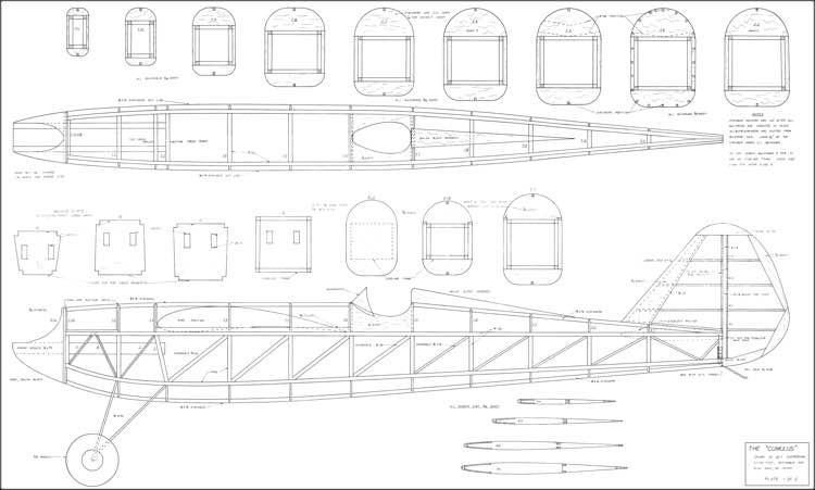 Cumulus Shereshaw 96in model airplane plan