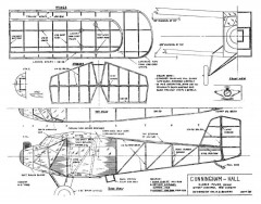 Cunningham Hall model airplane plan
