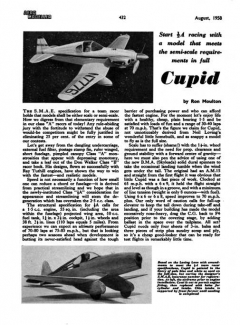 Cupid model airplane plan
