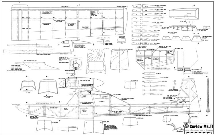 Curlew MkII-RCM-08-72 503 model airplane plan
