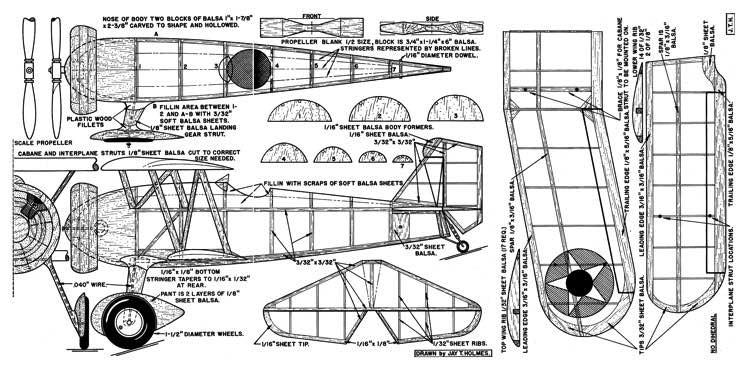 Curtis Seahawk model airplane plan