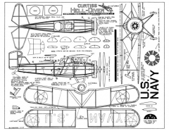 Curtiss F8C Helldiver model airplane plan