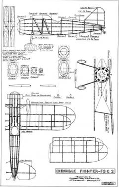 Curtiss F9C model airplane plan