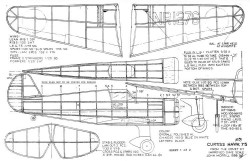 Curtiss Hawk 75 16in John Morrill model airplane plan