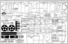 Curtiss-Hawk-Biplane-F81-16-in model airplane plan