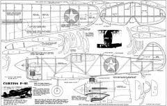 CurtissP-40 model airplane plan