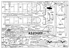 CurtissXPW8 model airplane plan