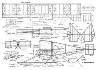 Curtiss A1-Triad model airplane plan