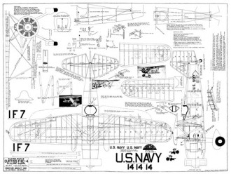 Curtiss F-11C-4 model airplane plan